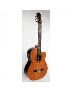 Martinez MCG-58CCE Guitarra Clasica EQ Fishman y tapa de Cedro