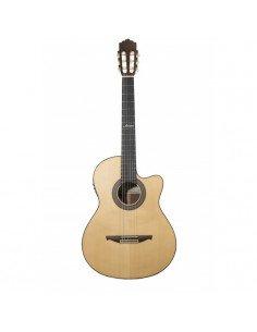 Altamira N400CC+ guitarra clásica amplificada cutaway + estuche