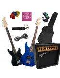 Set Guitarra Eléctrica para Jovenes (Cadete 7 a 10 años) + Amplificador + Accesorios