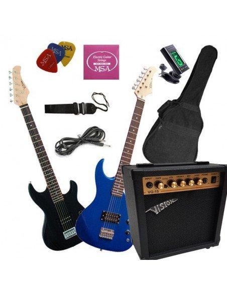 Set pack guitarra eléctrica para jóvenes cadete 7 a 10 años