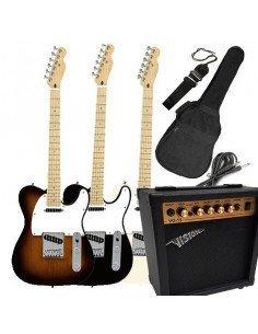 Set Guitarra electrica MSA Telecaster + Amplificador 20W + Accesorios