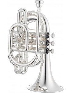 Jupiter JTR710S trompeta pocket Sib plateada