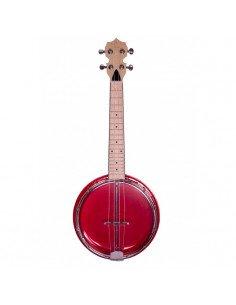 Banjolele 4 Cuerdas Bones BB400-R Rojo