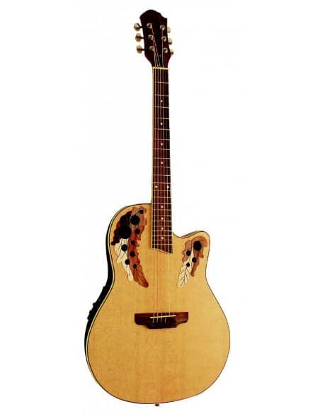 Guitarra Acústica Electrificada tipo Ovation - Natural