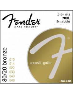 Juego de Cuerdas Fender para Guitarra acússtica 70XL - 010/048 - Venta onlne