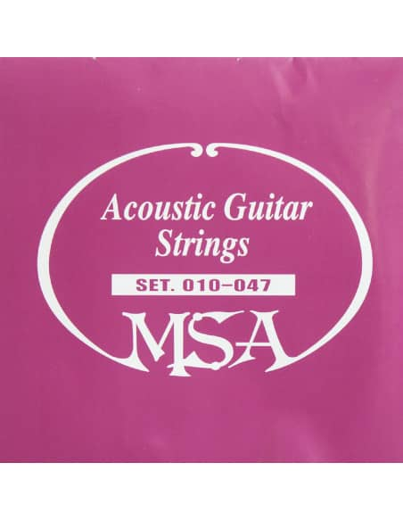 Juego de 6 cuerdas MSA para guitarra acústica 0.10 - 0.47