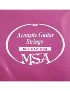 Juego de 6 cuerdas MSA para guitarra acústica 0.12 - 0.53