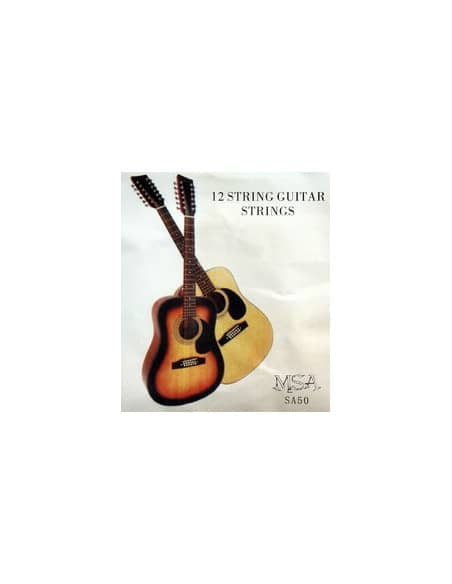 Juego de 12 cuerdas MSA para guitarra acústica 0.12