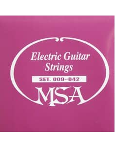 Juego de 6 cuerdas MSA para guitarra Eléctrica 0.09 - 0.42
