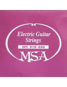 Juego de 6 cuerdas MSA para guitarra Eléctrica 0.10 - 0.46