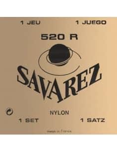 JUEGO CUERDAS CLASICA SAVAREZ 520R - ALTA TENSION