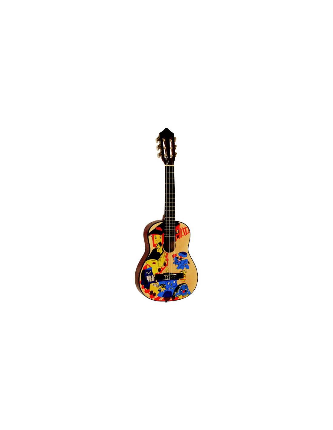 Guitarra Clásica Dibujo Tren 14 Para Niños 3 A 6 Años