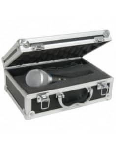 Microfono dinamico con maleta de transporte