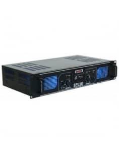 Etapa de Potencia Skytec SPL 300MP3 Amplificador 2x150w con LEDs azules EQ Negro