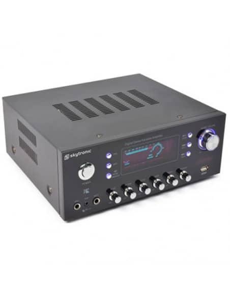 SKYTRONIC AV-120FM Amplificador estereo Karaoke MP3 - Incorpora radio