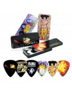 Pack puas guitarra con cajita y cierre de seguridad - Jimi Hendrix
