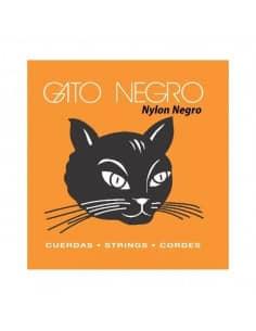 Cuerdas guitarra clasica Gato Negro con nylon negro - bordones dorados