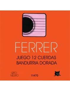Cuerdas bandurria Ferrer 12 und - bordones dorados