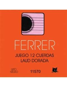 Cuerdas Laud Ferrer acero y bordones dorados - 12 und