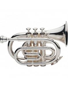 J.MICHAEL TR400PS Trompeta de Bolsillo Plata