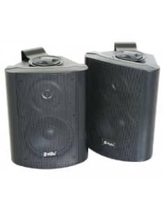 Altavoces stereo pasivos, 2-vias, 100W max, Negro - Pareja