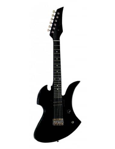Guitarra el/éctrica Verde Transparente de 39 Pulgadas con Altavoz de 10 vatios.