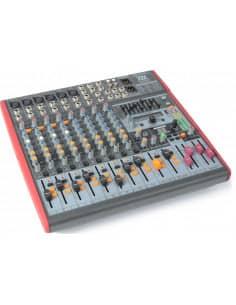 Power Dynamics PDM-S1203 Mezclador Escenario 12 canales DSP/MP3- USB Entrada/Salida