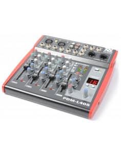 Power Dynamics PDM-L405 Mezclador para escenario 4 Canales MP3/ECHO