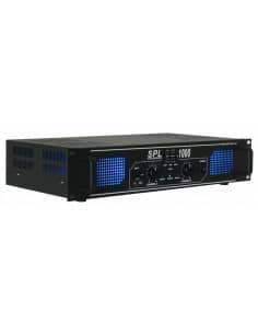 Skytec SPL1000MP3 Amplificador con LEDs azules + EQ Negro
