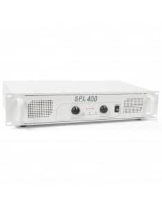 SkyTec SPL 400 amplificador 2x 200W Blanco
