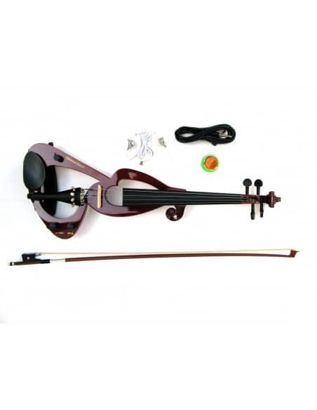 Set Violin electrico 4/4 + Funda + Arco+resina + auriculares