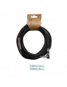 """Cables para Guitarra """"TGI"""" JACK, recto y acodado cromo alta calidad."""