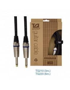 """Cables para Guitarra """"TGI"""" Ultracore, jacks punta dorada."""