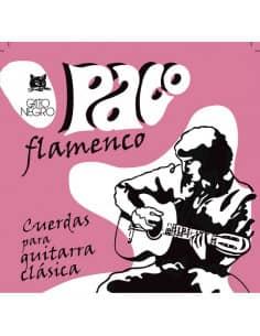 Cuerdas Flamenco Paco GATO NEGRO - nylon blanco