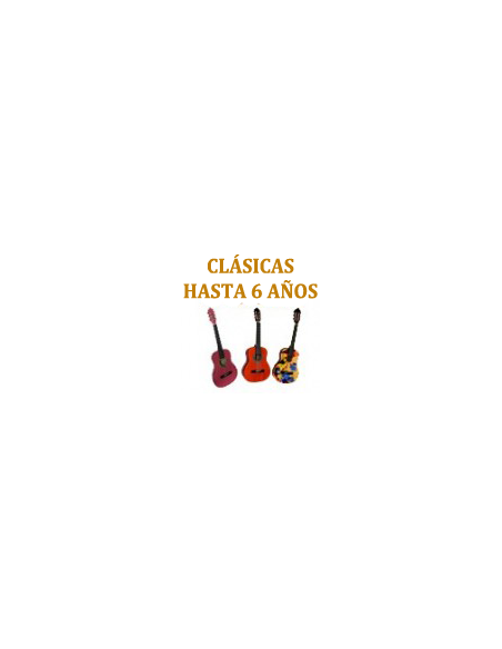 Guitarras 1/4 - 3 a 6 años